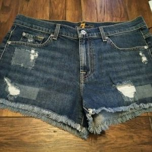 7 for all Mankind Denim Shorts- Women's Size 28- M